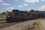CSX SD40-3 4078 and SD40E3 1705