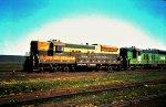 Burlington Northern SD9 6115 and 6113