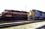Burlington Northern SD45s 6430 and 6421