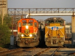 BNSF 8050 The 2 western giants side by side