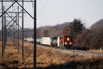 FXE 4054 leads a short CP manifest train 288 eastbound