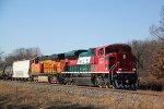 """Ferro ex"" 4054 and a BNSF unit haul CP 288 east"