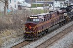 NS 8102 about to duck under Lewis Street