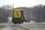 CSX 501 on one of the servicing tracks