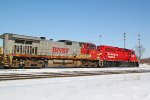 BNSF 719 and CP 2213 shove back