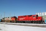 CP 2213 and BNSF 719 working the yard as G64X