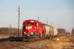 CP 2299 darts westward into the early evening sunshine