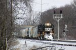 NS 2557 is the second NS SD70 to lead CP 470 east in five days