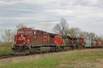 CP 9804 leads two CN motors and 171 grain empties!