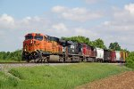 BNSF 7578 leads a colorful 281, the second of two WBs in quick succession