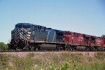 CEFX 1037 leads two CP GEs on westbound unit train 681