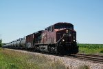 CP 8552 leads eastbound oil train 580