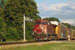 CP 8578 highballs into the low sun with autorack/intermodal train 199