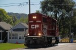 G77 light power in the form of CP 2326 rolls north onto the Wall St. trackage