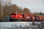 CP 2246 leads a Holiday Train as it has done every year since 2014
