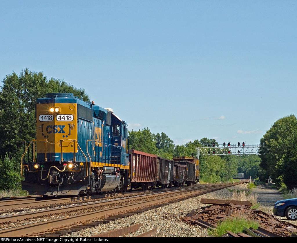 CSX 4418 lead W993