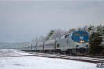 Amtrak in Snow