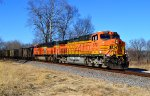 BNSF 5707 and 9280