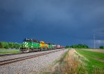 Stormy SD40s