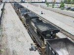 Westbound coal train