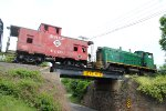 BRW/Erie caboose crossing the trestle