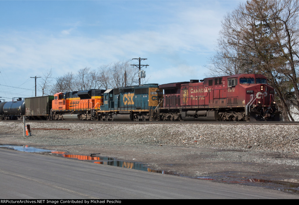 CSX Ethanol with a colorful consist