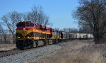 Westbound KCS Freight at Armstrong