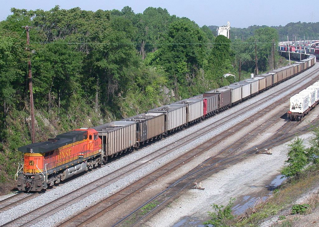 DPU of NS Sherer empty coal train through Inman yard
