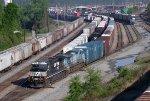 NS SB freight leaving