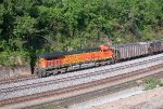 BNSF 5678 pushing empty coal train