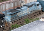 NS 8439 still but in faded Conrail paint pulls out of NS Inman Yard