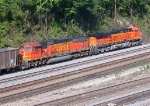 BNSF consist pulling empty Sherer Coal train through NS Inman yard