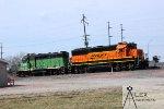 BNSF 3127 & BNSF 2745 sitting idle at Havelock
