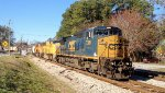 CSX C40-8W 7389 and UP SD70Ms 4590 and 4174
