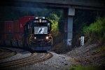 A GP60 Set Leads a G Train Past MP 138