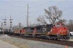 CN 2179 On CSX K 435 Southbound