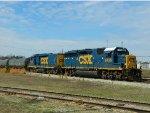 CSX 6438 (GP40-2) 2264 (Road Slug)