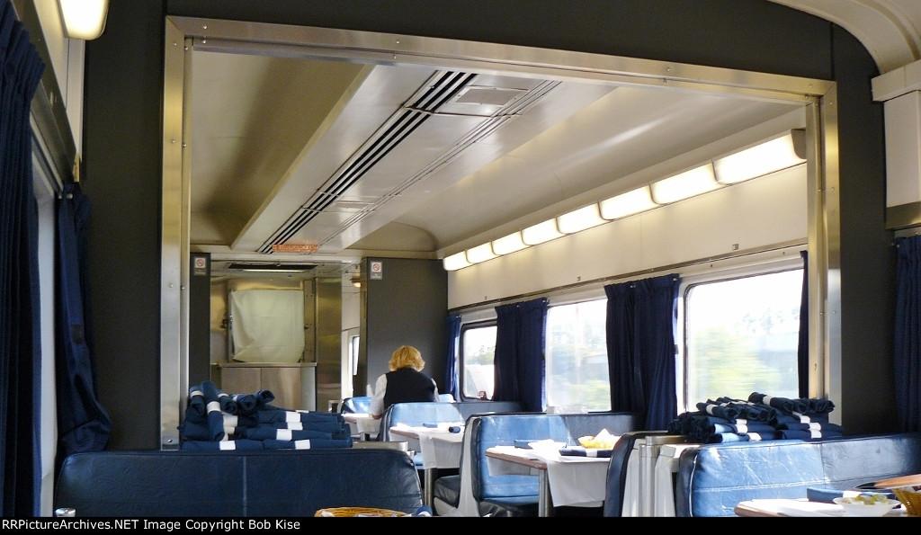 Inside a 1948-built ex-NYC diner