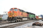 BNSF 4691 on northbound intermodal train