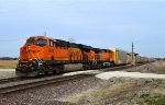 BNSF 6684 and 5137