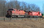 Mixed freight #leaves the yard westbound