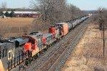 Westbound mixed freight #385 seen from Blenheim Rd bridge