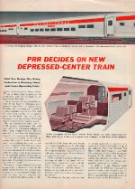 """New Depressed-Center Train,"" Page 13, 1955"
