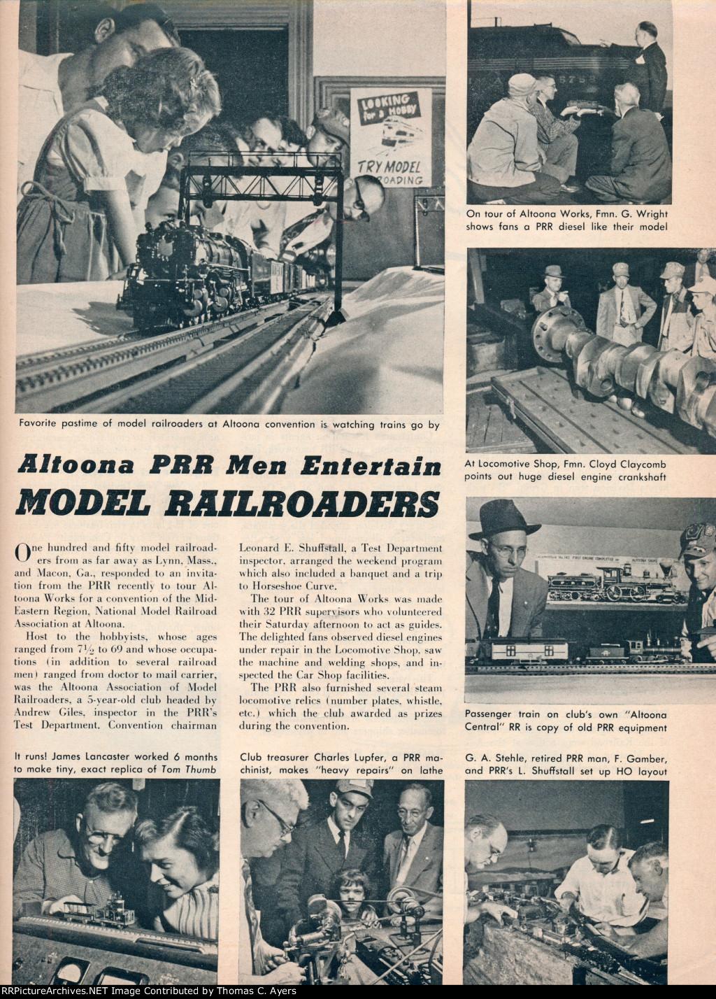 """""""Altoona PRR Men Entertain,"""" Page 19, 1955"""
