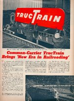 """Common-Carrier TrucTrain,"" Page 1, 1955"