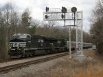 NS 099 under signals at Bowler, just east of Pamplin City