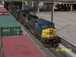 CSX 7718 leads northbound Q684