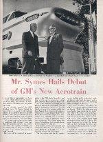 """GMs New Aerotrain,"" Page 1, 1955"
