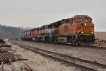 BNSF 3783 rolls south with the GALMEM in tow