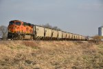 BNSF 6402 Dpu on a Ns loaded grain.